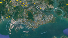 Tuas planning area in the west of Singapore will host the new water reclamation plant